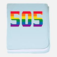 Gay Pride 505 Albuquerque Area Code baby blanket