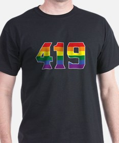 Gay Pride 419 Toledo Area Code T-Shirt