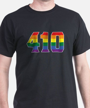 Gay Pride 410 Baltimore Area Code T-Shirt