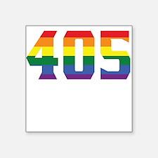 Gay Pride 405 Oklahoma City Area Code Sticker
