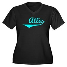 Allie Vintage (Lt Bl) Women's Plus Size V-Neck Dar