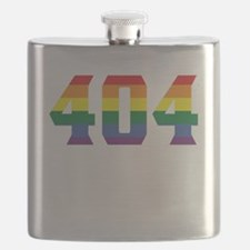 Gay Pride 404 Atlanta Area Code Flask