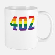 Gay Pride 402 Omaha Area Code Mugs