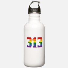 Gay Pride 313 Detroit Area Code Water Bottle