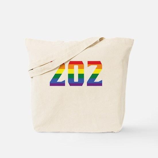 Gay Pride 202 Washington DC Area Code Tote Bag