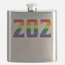 Gay Pride 202 Washington DC Area Code Flask