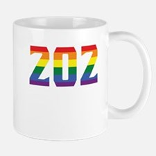 Gay Pride 202 Washington DC Area Code Mugs