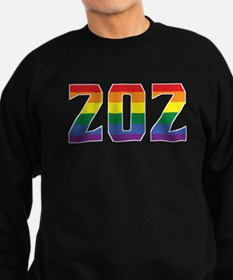 Gay Pride 202 Washington DC Area Code Sweatshirt