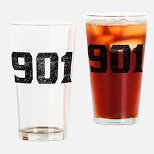 901 Memphis Area Code Drinking Glass