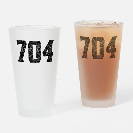 704 Charlotte Area Code Drinking Glass