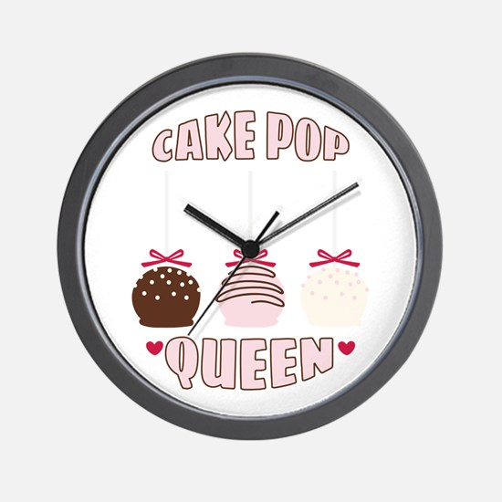 Cake Pop Queen Wall Clock