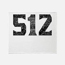 512 Austin Area Code Throw Blanket