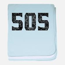 505 Albuquerque Area Code baby blanket
