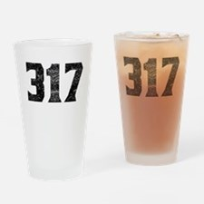 317 Indianapolis Area Code Drinking Glass