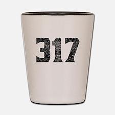 317 Indianapolis Area Code Shot Glass