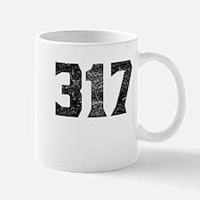 317 Indianapolis Area Code Mugs