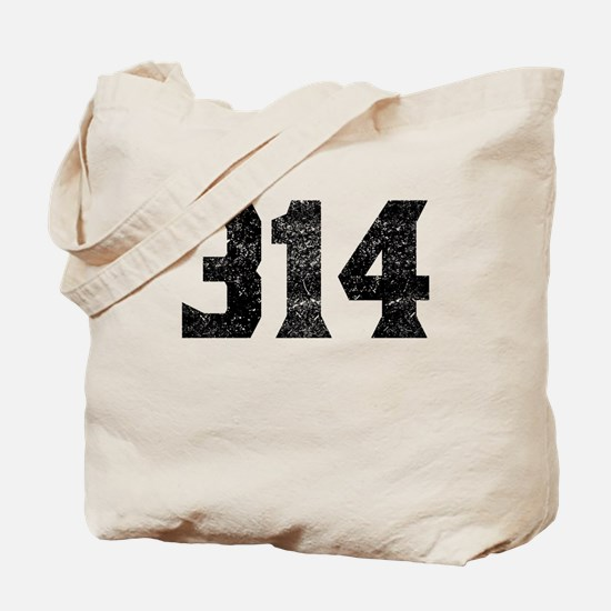 314 St Louis Area Code Tote Bag