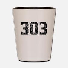 303 Denver Area Code Shot Glass
