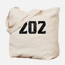 202 Washington DC Area Code Tote Bag