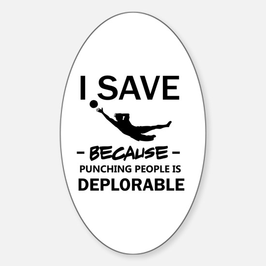Unique I keeper soccer Sticker (Oval)