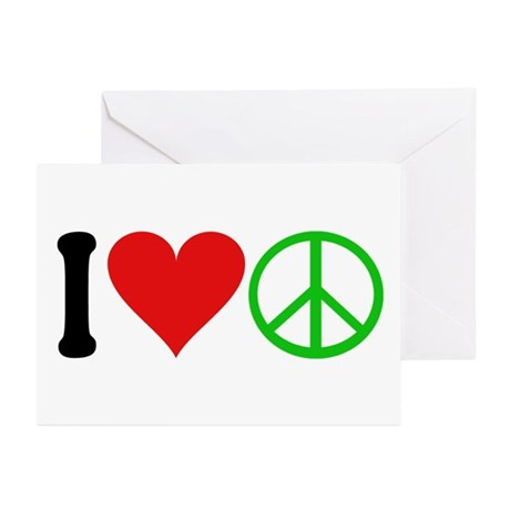 I Love Peace (design) Greeting Cards (Pk of 10)