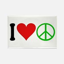I Love Peace (design) Rectangle Magnet