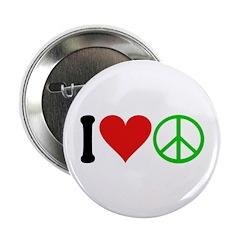 "I Love Peace (design) 2.25"" Button (100 pack)"