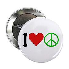 """I Love Peace (design) 2.25"""" Button"""