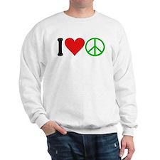 I Love Peace (design) Sweatshirt