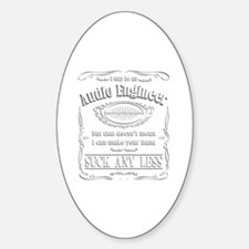Funny Recording studio Sticker (Oval)