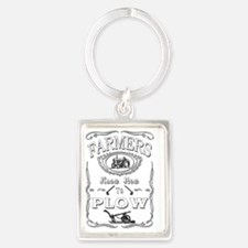 Cute Farmers Portrait Keychain