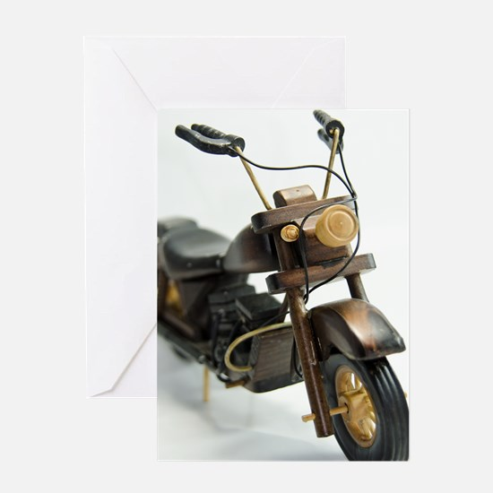 Toy Motorcycles Card Greeting Cards