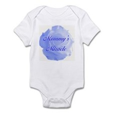 """Mommy's Miracle"" (blue) - Infant Bodysuit"