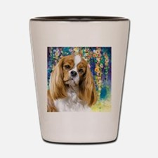 Cavalier King Charles Spaniel Painting Shot Glass