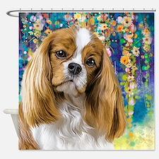 Cavalier King Charles Spaniel Painting Shower Curt