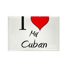 I Love My Cuban Rectangle Magnet