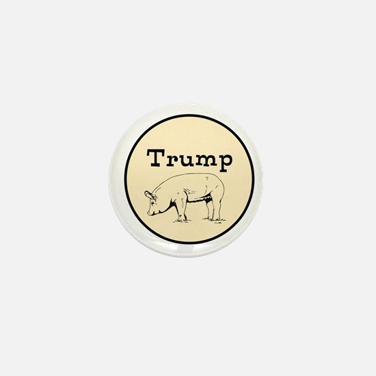 Trump pig, anti tump Mini Button