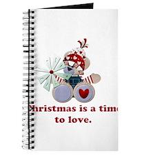 Christmastime Love Teddy Bear Journal