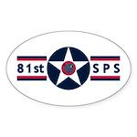 81st SPS Oval Sticker