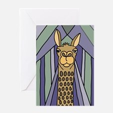 Unique Llama Greeting Card
