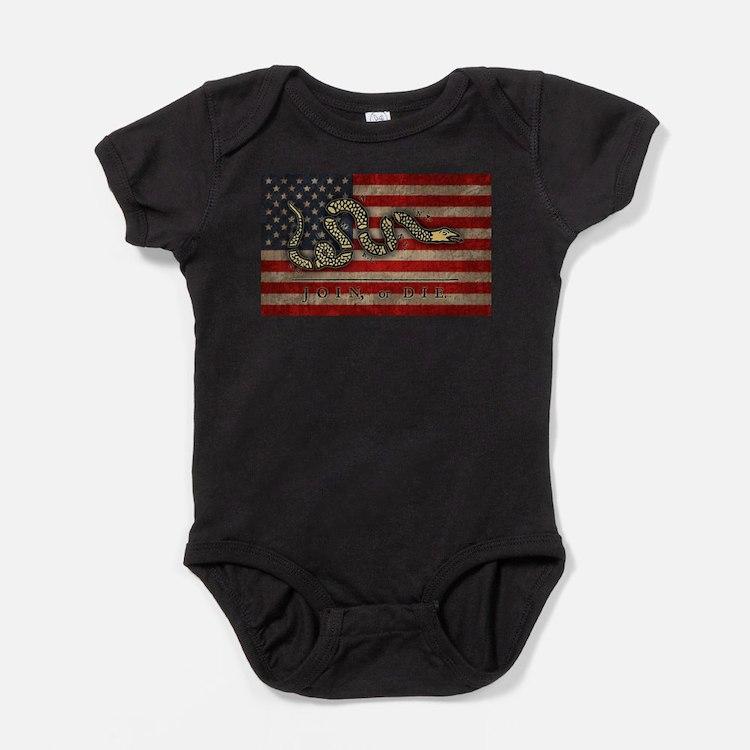 Cute Snake flag Baby Bodysuit