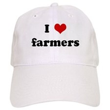 I Love farmers Baseball Cap