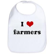 I Love farmers Bib
