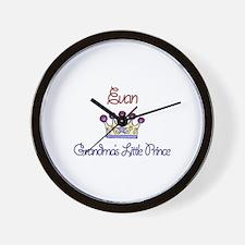 Evan - Grandma's Little Princ Wall Clock