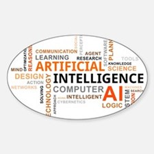word cloud - artificial intelligence Decal