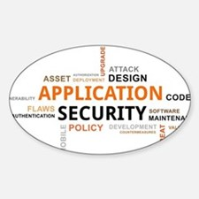 word cloud - application security Decal