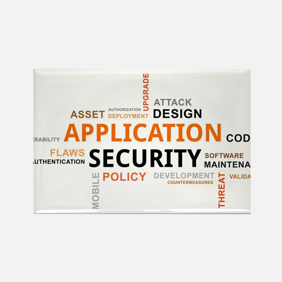 word cloud - application security Magnets