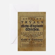 Old Salem Witch Trials Greeting Cards