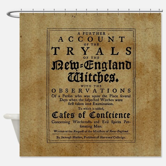 Old Salem Witch Trials Shower Curtain