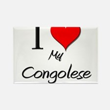I Love My Congolese Rectangle Magnet